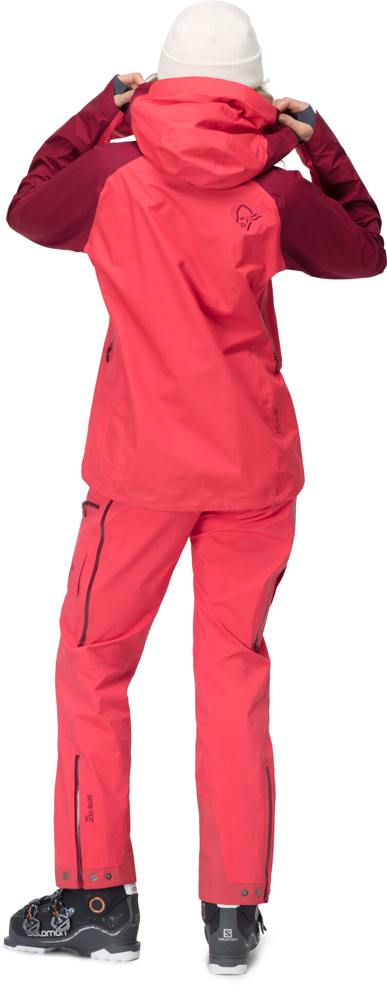 Damen Lofoten Super Lightweight Down Jacke crisp ruby XS